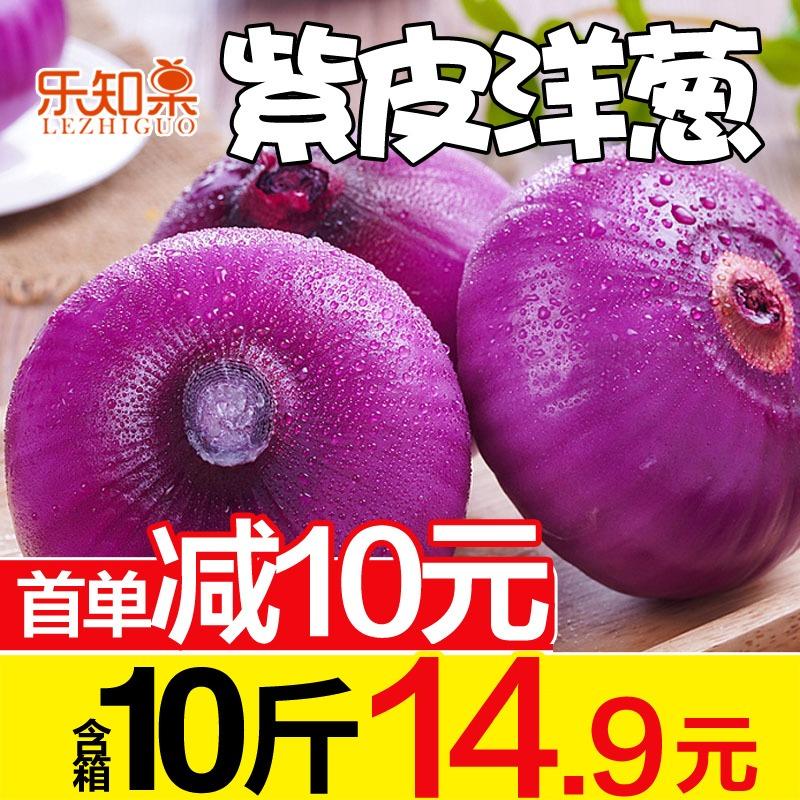 云南紫皮洋葱含箱10斤新鲜洋葱头农家自种蔬菜红皮圆葱特产包邮