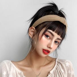 真发带发箍眉上刘海 自然隐形头箍假头帘 空气刘海带压发假发女图片