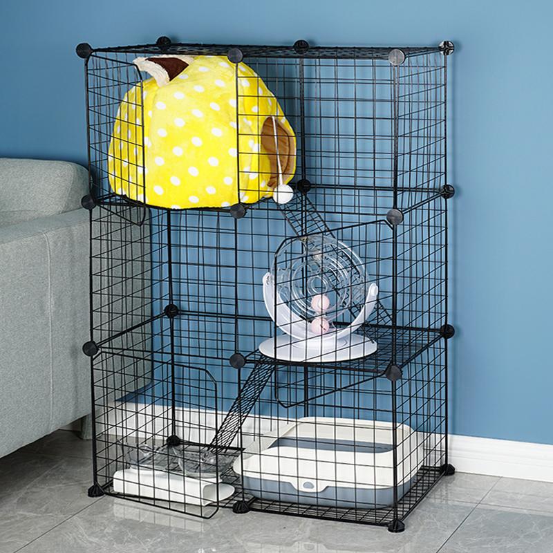 满90.00元可用45元优惠券星宠经济型成年猫猫豪华别墅猫笼小型家用猫舍日式和风猫咪猫笼子
