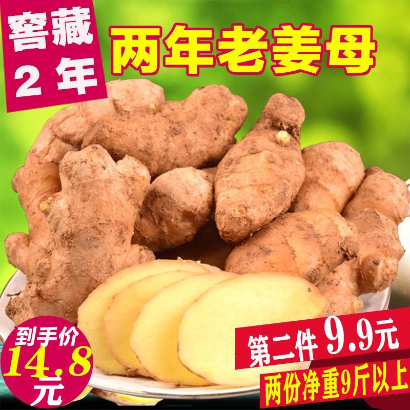 生姜母老姜母山东大黄姜母新鲜生姜母黄姜月子姜新鲜蔬菜5斤包邮