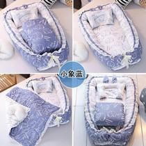 。北欧风格防压便携式床中床婴儿床幼床子母床小小婴儿床新生儿