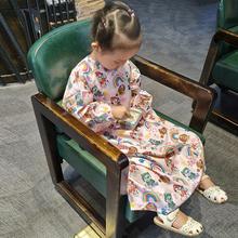 儿童带袖理发围布卡通画画罩衣婴儿宝宝剪发小孩不粘发防静电家用