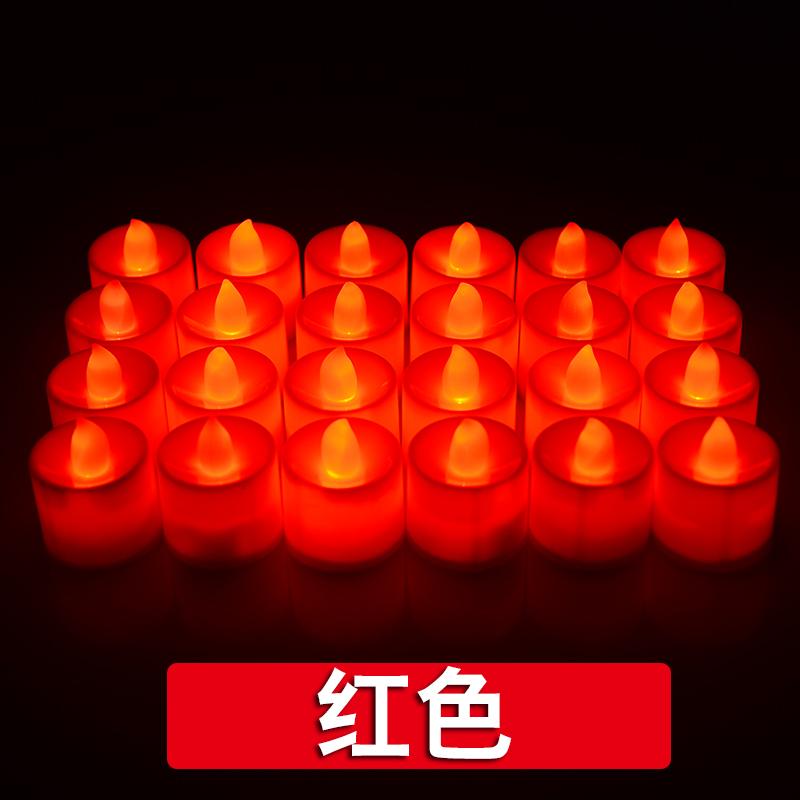 酒吧小灯灯告白蜡烛烛光求爱心形蜡烛表白电子爱心套餐
