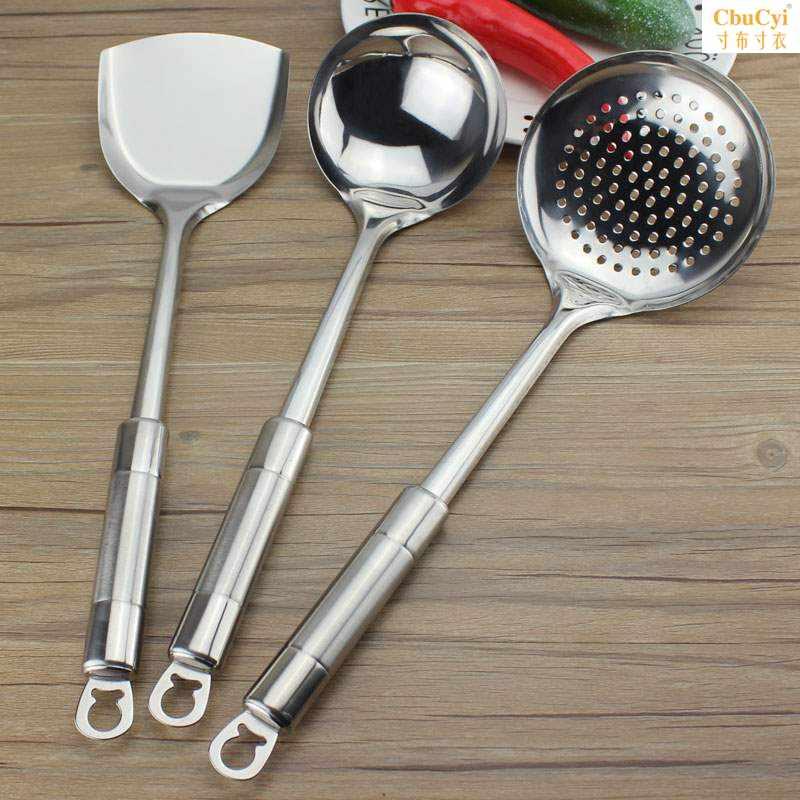 不锈钢锅铲套装家用炒菜铲子汤勺漏勺饭勺锅铲子全套厨房烹饪用具