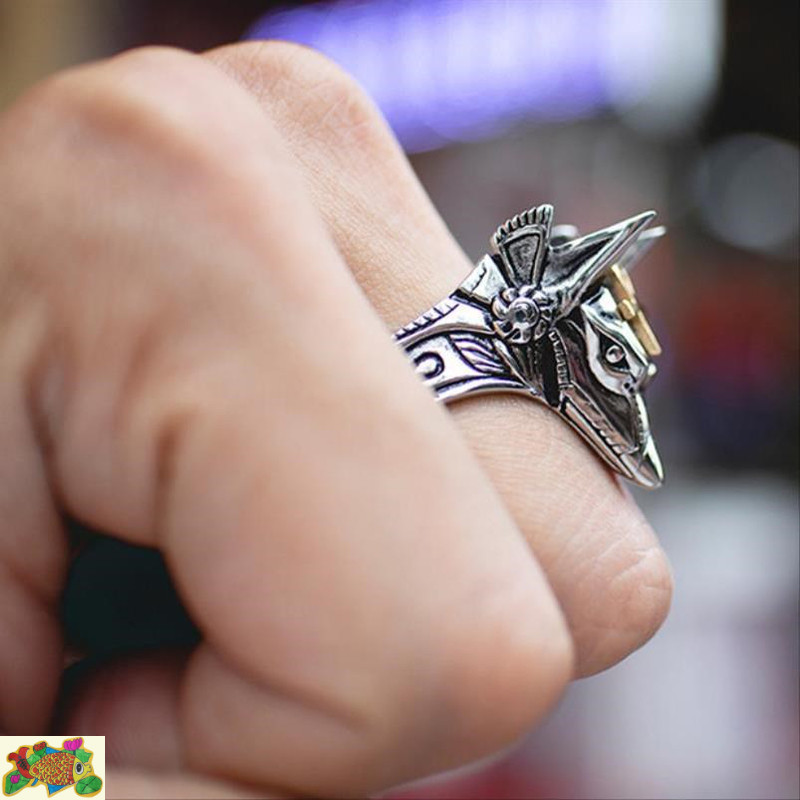 Death anubis self defense ring anti wolf weapon mechanism concealed weapon woman finger tiger finger blade man invisible knife