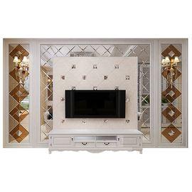 艺术玻璃电视客厅背景墙边框装饰茶镜菱形欧式镜面背景墙拼镜定制