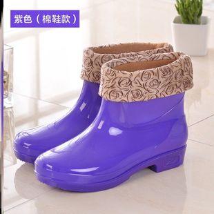 趕海專用鞋中筒雨鞋男短筒水鞋女膠鞋廚房防水防滑高筒雨靴男女工