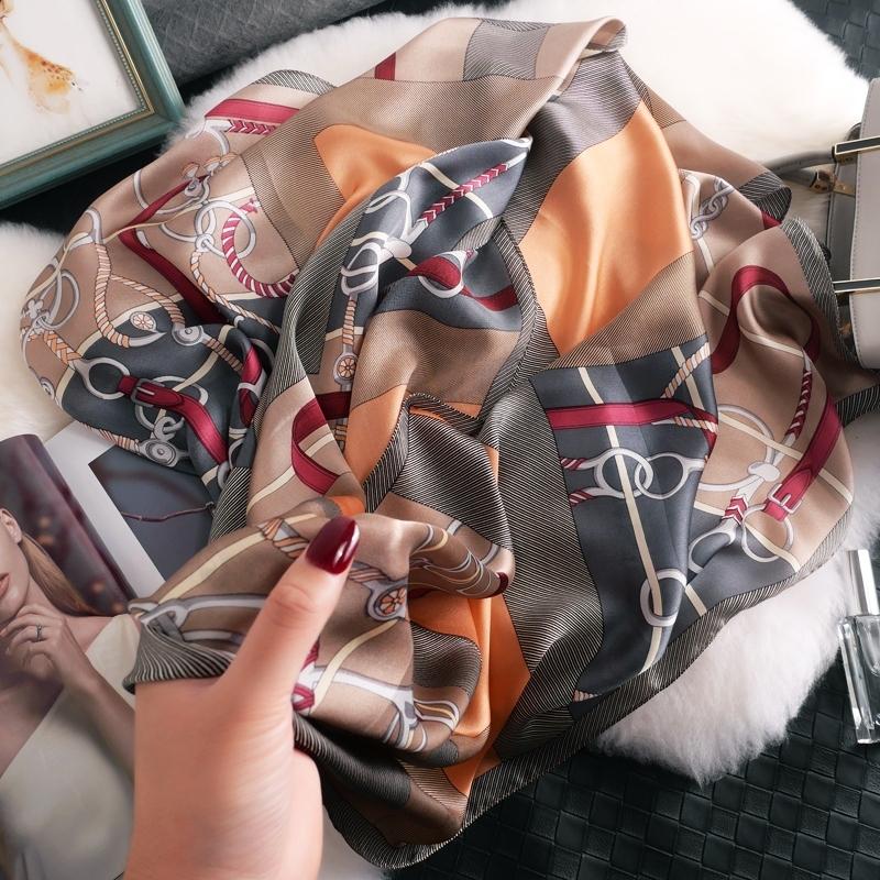 【马饰拼色】超有优雅感觉的一款~纯桑蚕丝真丝丝巾围巾披肩女