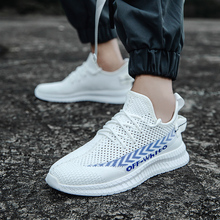 Edison's New Trendy Shoes 2019 Men's Summer Flying Yarn Air-permeable Sports Shoes Leisure Flat-soled Running Shoes Fashion