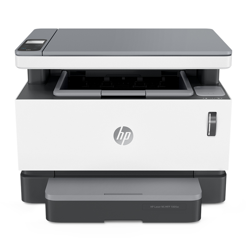 Hewlett-Packard HP Laser NS MFP 1005w Multifunctional Printer with Pink, Black and White Laser Connecting Wireless Wifi Mobile Phone to A4 Copy Scanning Home Office for Commercial Use