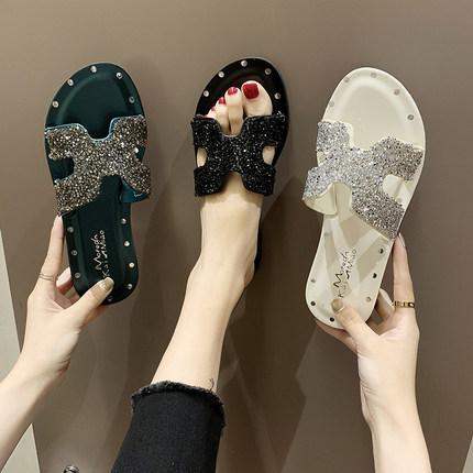 首览拖鞋女外穿2019新款ins潮鞋时尚百搭网红韩版可爱夏季凉拖鞋