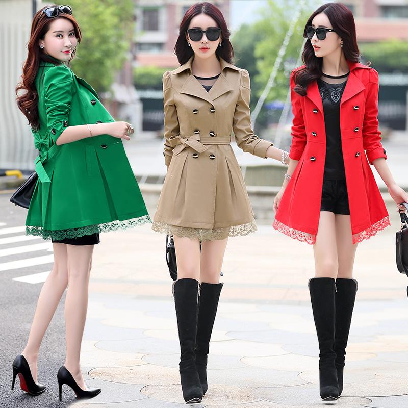 ファッション的なスタイルの服の女性ファッションins春の中で長いタイプのコートの女性2021新型の女装の気質は身を修めます韓版の上着