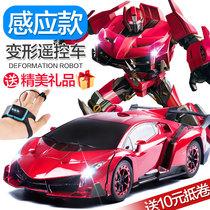 手势感应变形遥控汽车金刚充电动大黄蜂机器人赛车儿童男孩玩具车