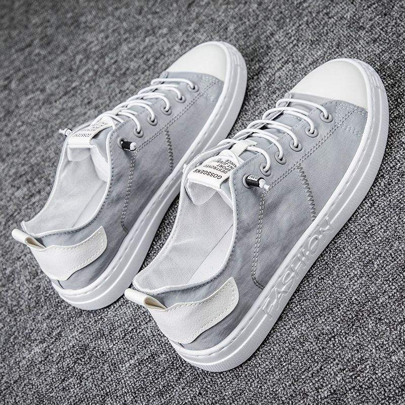 Young Harajuku light 2021 new canvas board shoes mens fashion student tide autumn and winter simple white background versatile