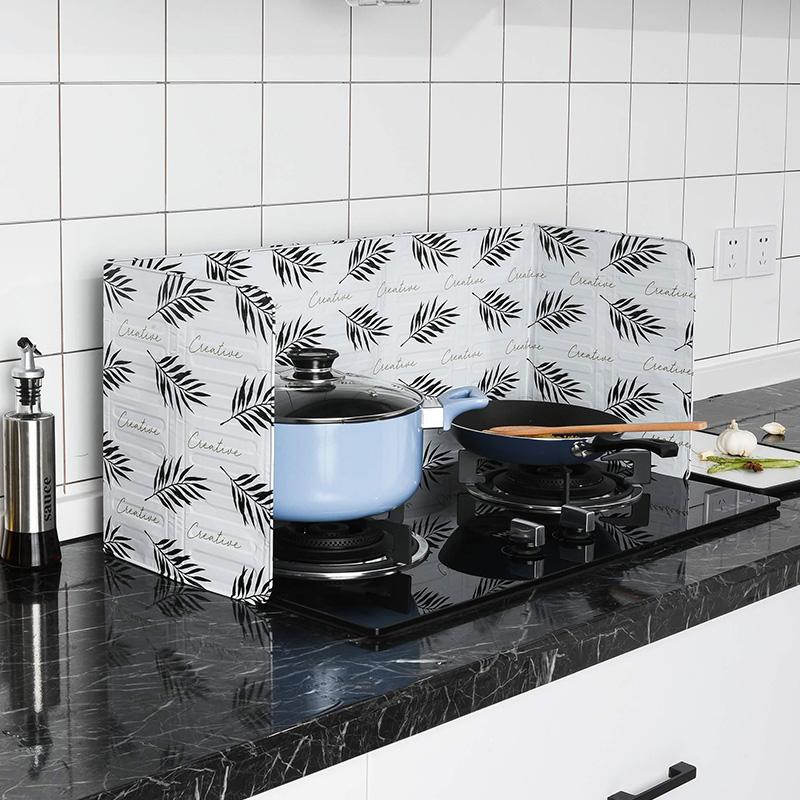 北欧灶台家用耐高温厨房炒菜挡油板