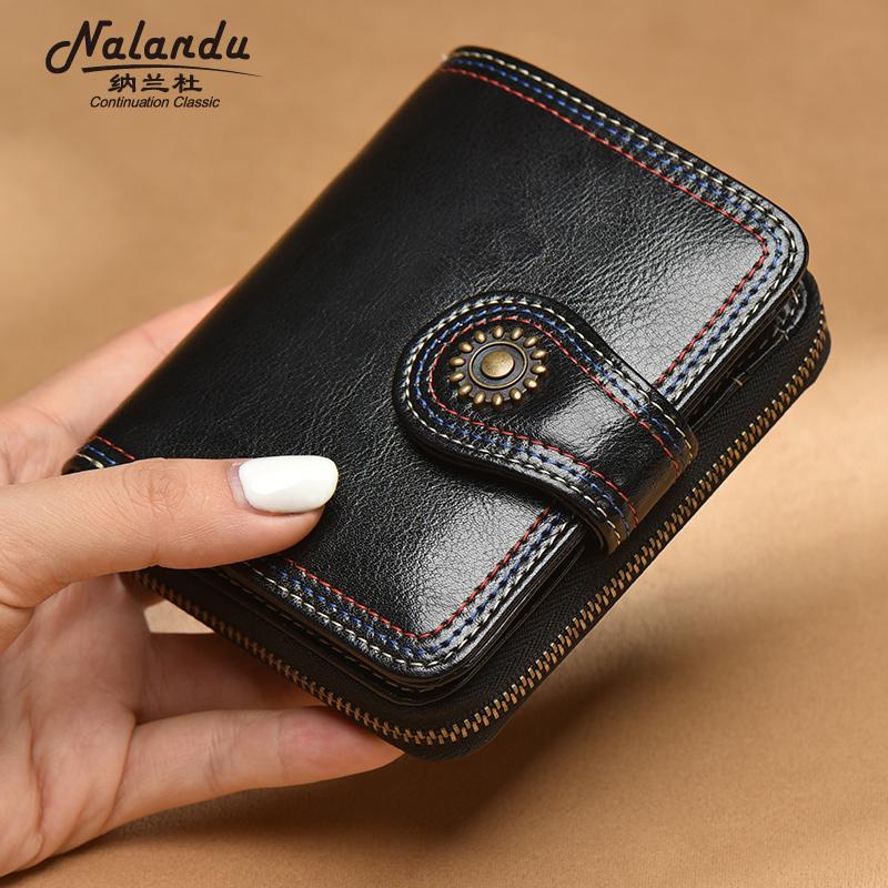 Wallet womens short 2020 new leather zipper folding wallet fashionable womens multifunctional Wallet
