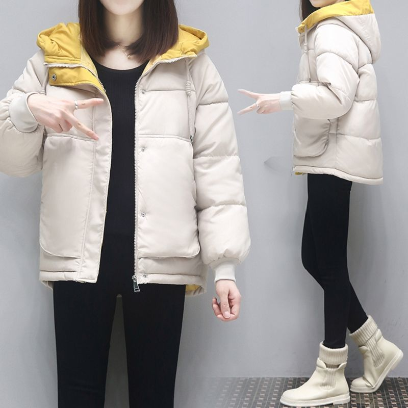Cotton padded womens short 2020 winter clothes new Korean loose students bread coat cotton padded jacket large thickened cotton padded coat