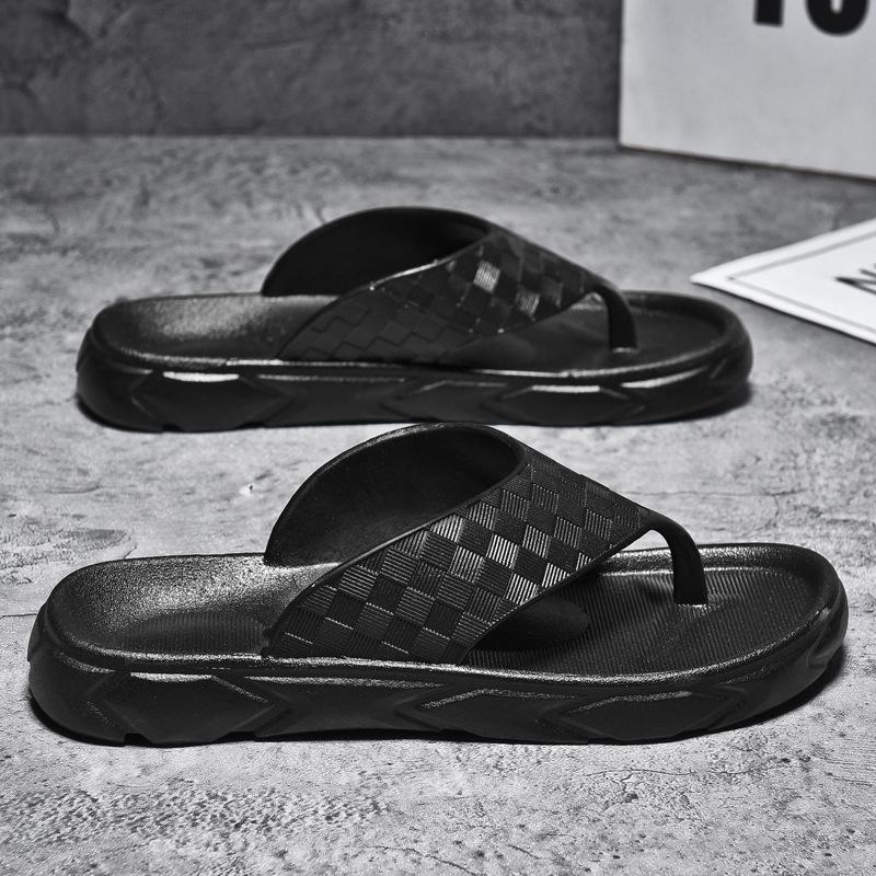 Mens flip flops summer clip toe flat bottom light and comfortable outdoor sports beach leisure sandals sandals