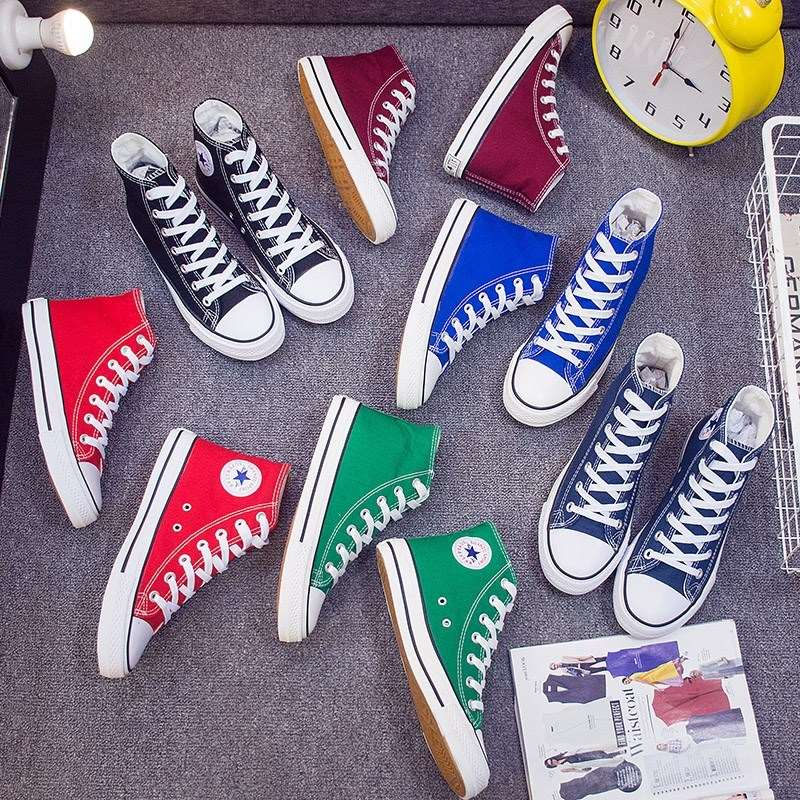 Dance high quality lace up walking simple stress absorption board shoes mens Korean version of fashion playing canvas flexible and easy white