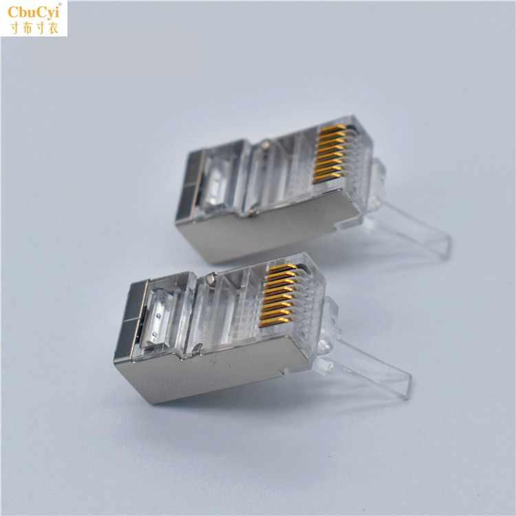 8P8C网络水晶头1000个一袋装超五类非屏蔽八芯网线水晶连