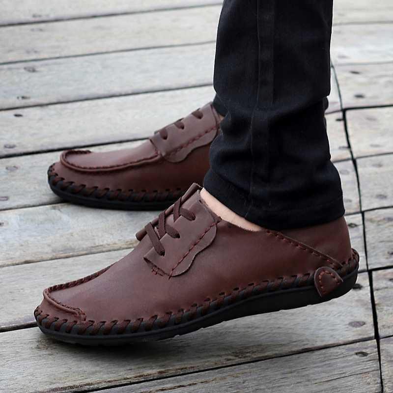 【天天特价】透气豆豆鞋平底流行男鞋真皮懒人鞋软皮鞋男款驾车鞋