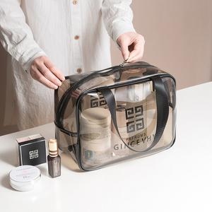 透明洗漱收纳包防水洗澡游泳化妆品包袋女男旅行便携健身房洗浴包