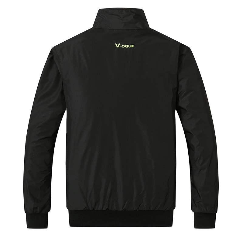春秋男式单衣薄款运动夹克两面穿外套运动服秋季青年休闲外衣防风