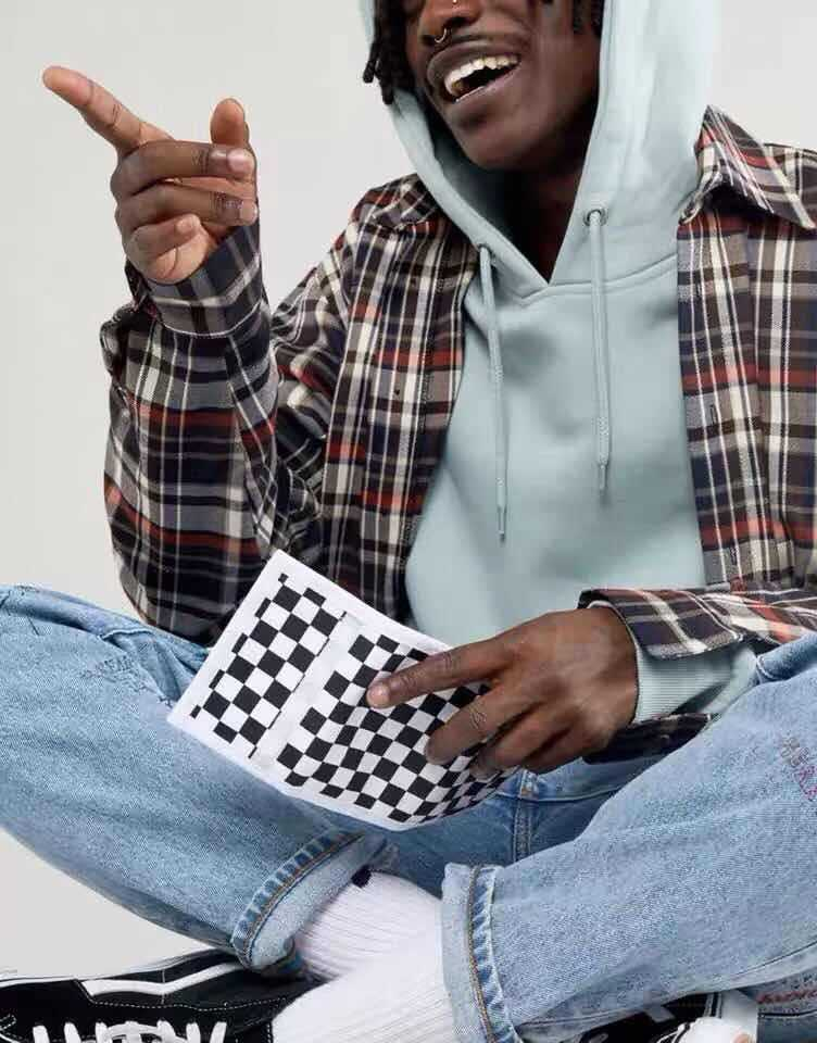 Classic chessboard Plaid Velcro folding Canvas Wallet trend