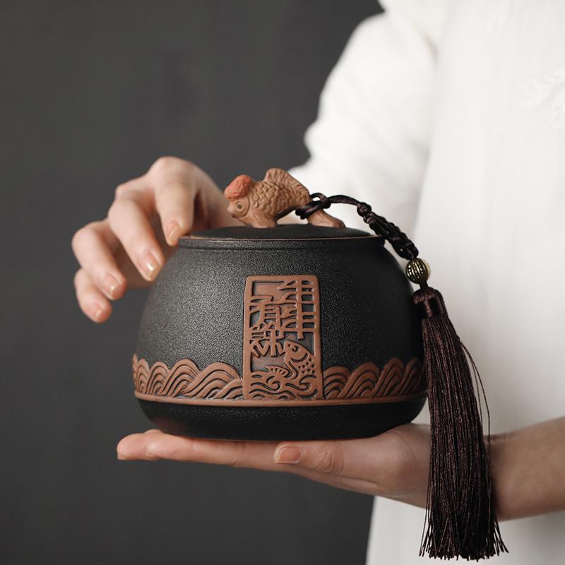 送朋友什么礼物比较好,百贝复古粗陶茶叶包装盒