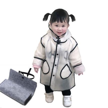 女童幼儿园公主透明雨鞋套装雨衣