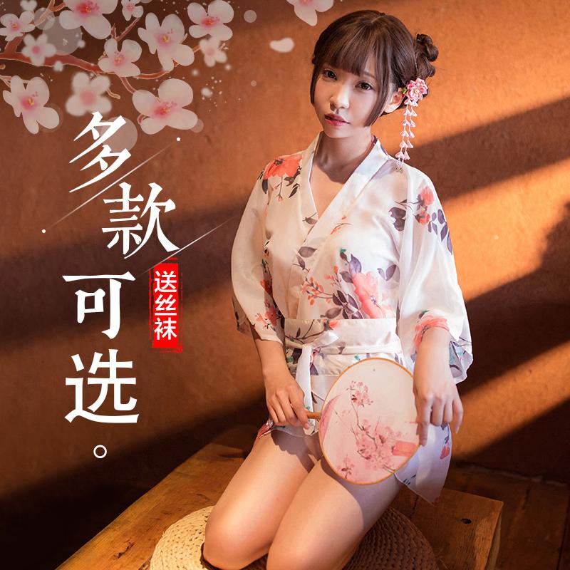 性感情趣内衣激情套装日式和服风古代青楼诱惑薄纱透明古装睡衣GC