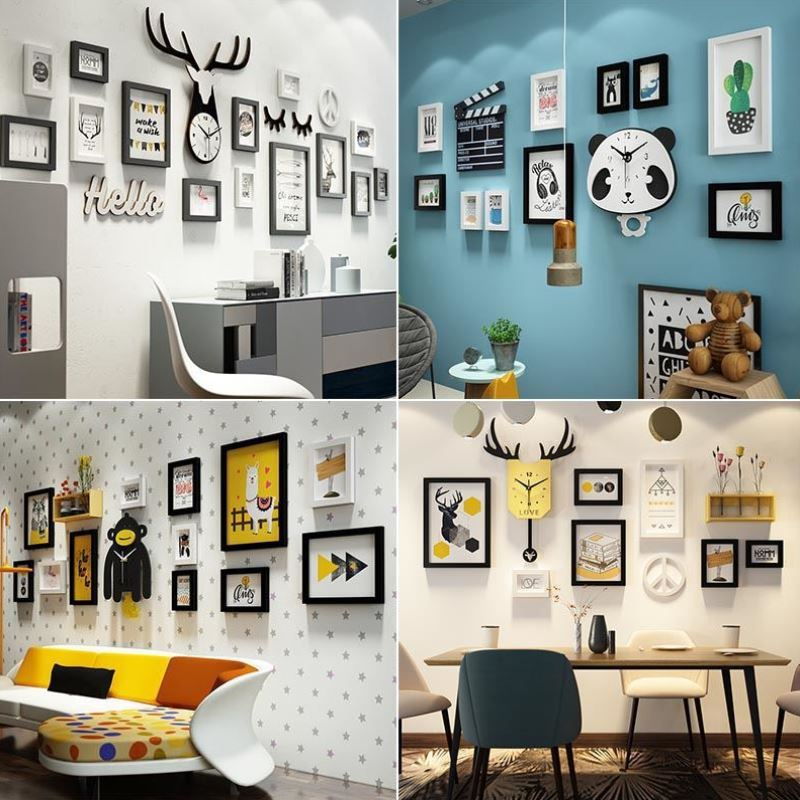 Net red decoration hanging picture restaurant wall painting office corridor cloakroom frame small dress shop jewelry theme wine