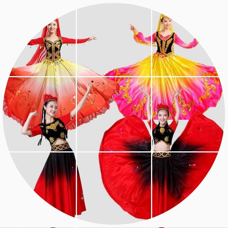 新疆舞蹈花儿为什么这样红演出服装女儿童维吾尔族舞少数民族服饰