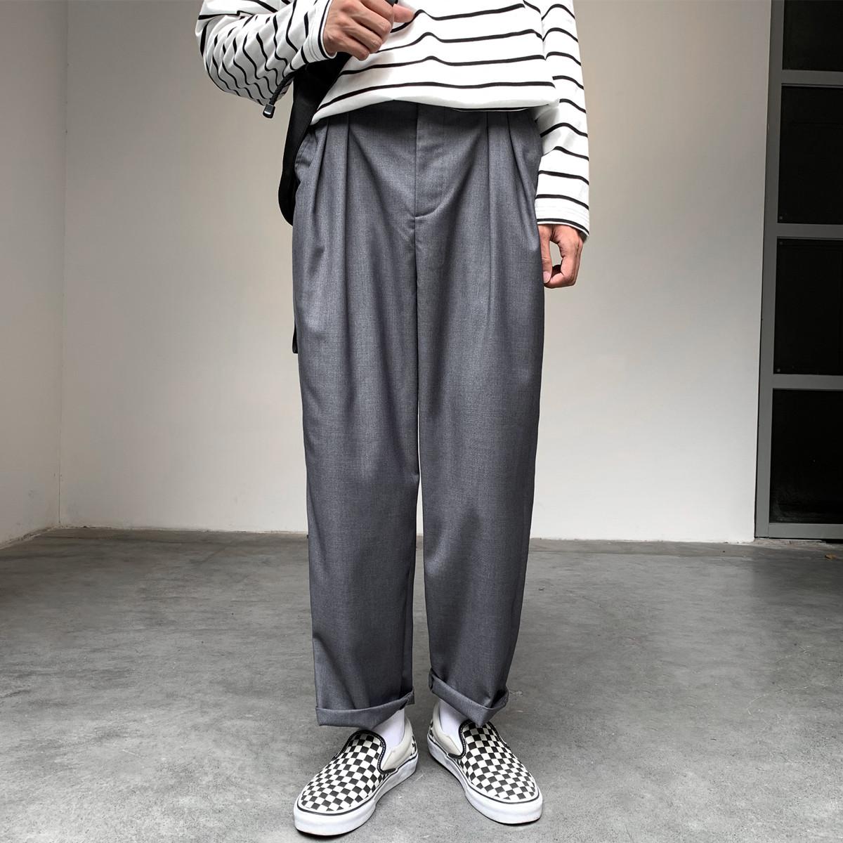(用1元券)offbord男直筒港风垂感秋季西装裤