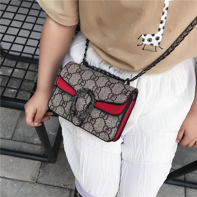 Fashion brand girl bag 2020 new fashion baby messenger bag foreign style children chain fashion bag small change purse