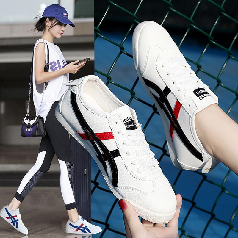 春夏季小白鞋女社会平底板鞋女快手红人网红同款阿甘鞋休闲运动鞋图片