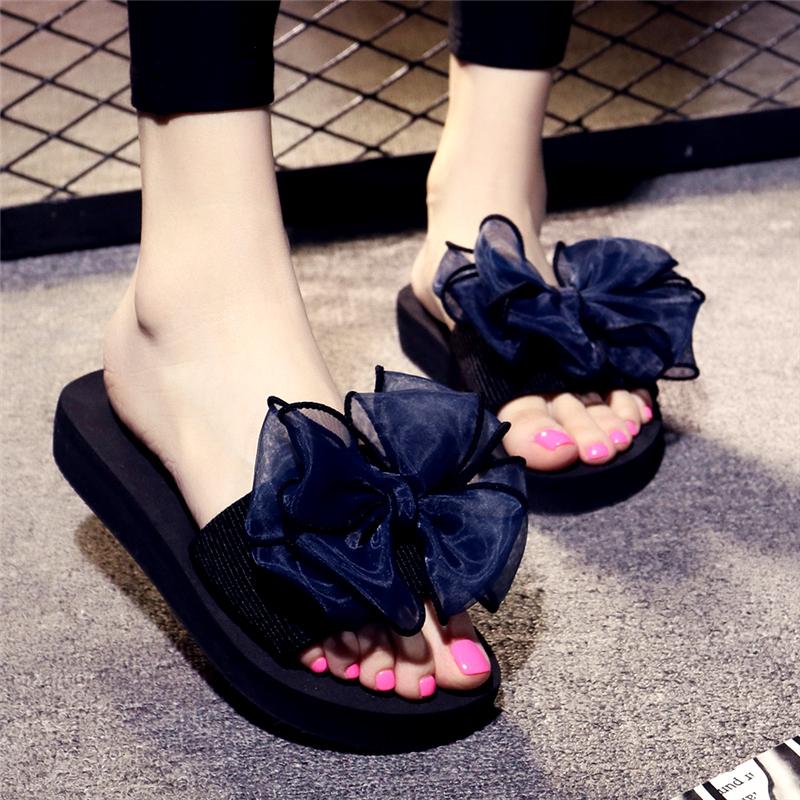 中国假巴厘岛网红复古风坡跟女人夏天百搭厚底度沙滩鞋拖鞋女夏外