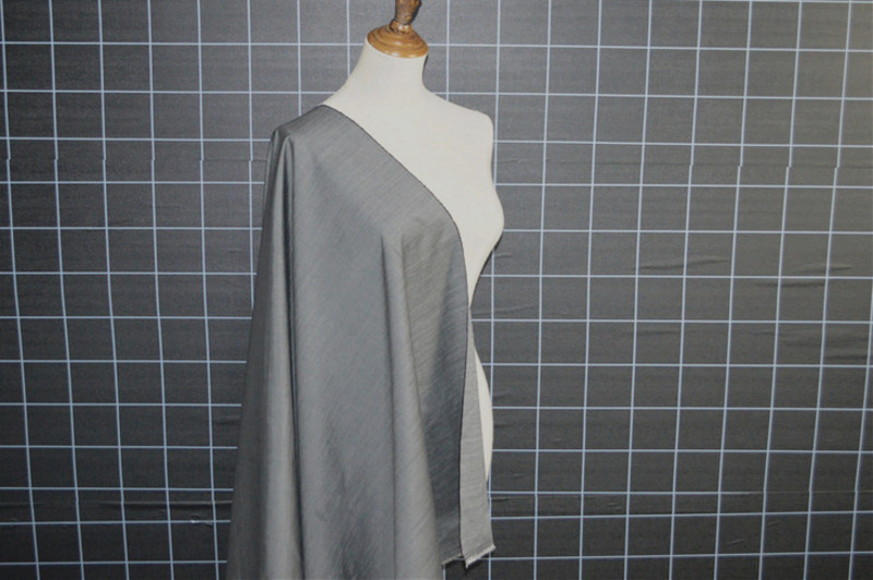 Spring and summer Italian grey silk wool worsted fabric light and delicate suit trousers dress shirt