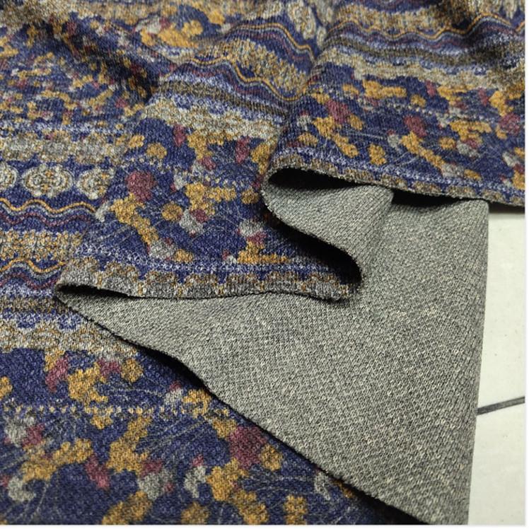秋冬弹力仿羊毛衫质感面料套头衫阔腿裤长袖连衣裙时尚布料2