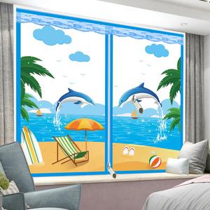 保暖窗帘冬用密封窗户防风保温膜