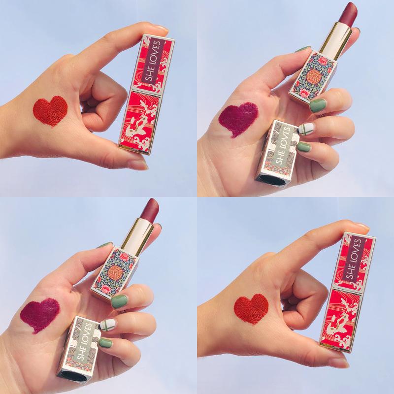 五折促销上新了故宫口红限量版女古风星空德国小众品牌磁扣颜九超仙学生款