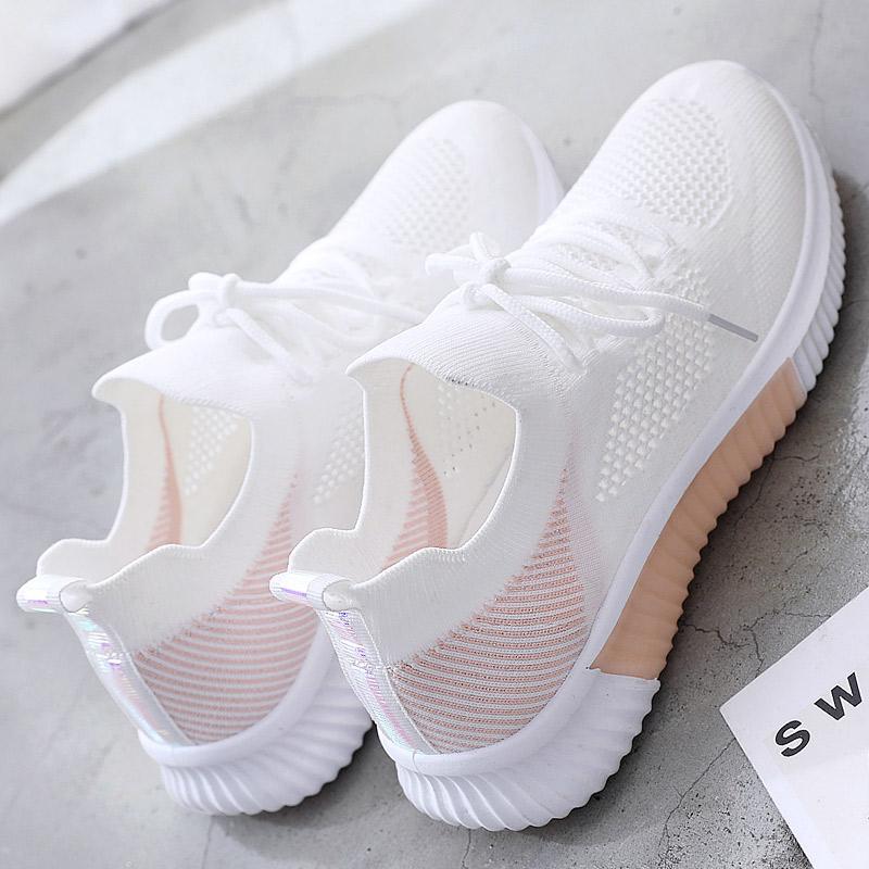 2020春季小白鞋女鞋子新款透气休闲运动网面百搭夏季薄款镂空白鞋