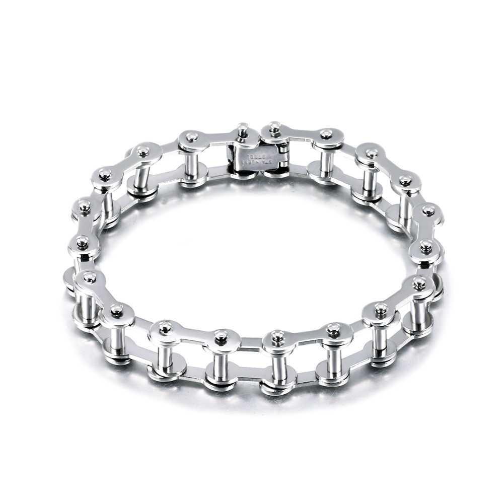 Charm Motorcycle Bicycle Chain Bracelet mens stainless steel locomotive bracelet style mens Bracelet