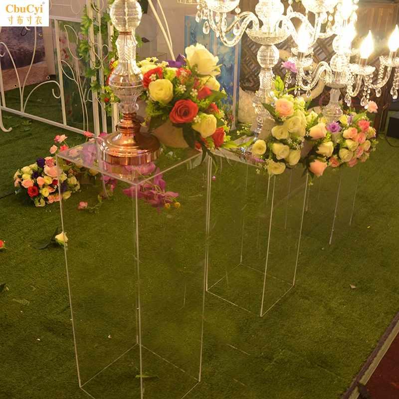 婚庆道具水晶布置透明方柱亚克力路引舞台婚礼设计公司摆件可折叠