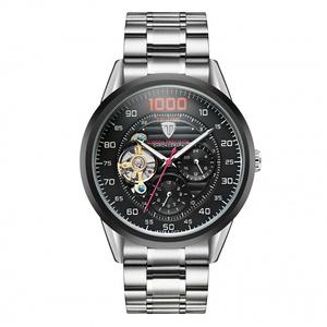 时尚流行女士腕表TEVISE特威斯品牌手表全自动机械表陀飞轮款透底
