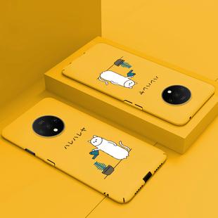 一加7t手機殼超薄一加7tpro保護套卡通硬殼個性創意ins網紅1+7t全包防摔一加七pro高檔oneplus7t男女por潮牌