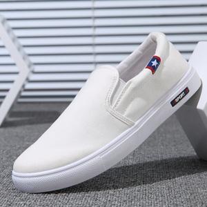 韩国站夏季布鞋男鞋子男士休闲鞋韩版潮流百搭一脚蹬懒人鞋帆布鞋