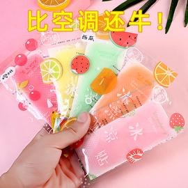 夏季冰凉贴学生清凉防暑降温神器可爱水果味夏天提神醒脑降暑冰贴图片