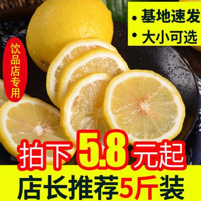 四川安岳黄柠檬带箱5斤装新鲜水果10皮薄多汁二三级包邮非青宁檬