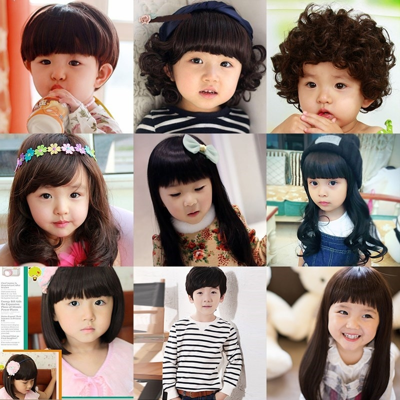 1 / 2 / 3 / 4 / 5 / 6 / 7 / 8 / 9 / 10-year-old childrens wigs childrens girls childrens short straight hair long curly hair